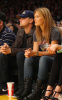 Leonardo DiCaprio and Bar Refaeli seen together on January 18th 2010 at the Los Angeles Lakers basketball game 1