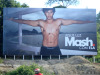 Jesus Luz appears in a photo shoot on billboards all over the country for the new Mash underwear campaign