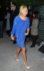 Ashley Tisdale arrives at the InStyles glitzy Golden Globes party on December 8th 2009 in Tinseltown wearing a blue dress 1