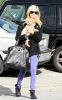 Ashley Tisdale seen getting coffee from Coffee Bean on January 15th 2010 in Toluca Lake with her little puppy 2