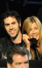 Jennifer Aniston with Sacha Baron Cohen at the Hope For Haiti Now telethon  held at CBS Television City January 22nd 2010 in Los Angeles