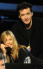 Jennifer Aniston with John Cusack at the Hope For Haiti Now telethon  held at CBS Television City January 22nd 2010 in Los Angeles