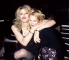 Drew Barrymore photo when she was a teenager together with Courtney Love