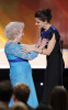 Sandra Bullock with Betty White onstage during the 16th Annual Screen Actors Guild Awards held at the Shrine Auditorium on January 23rd 2010 in Los Angele