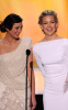 Kate Hudson and Marion Cotillard onstage during the 16th Annual Screen Actors Guild Awards held at the Shrine Auditorium on January 23rd 2010 in Los Angele