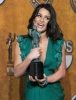 Lea Michele backstage with her award at the 16th Annual Screen Actors Guild Awards on January 23rd 2010 in Los Angeles 1