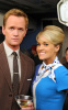 Carrie Underwood as a flight attendant on the set of How I Met Your Mother episode of January 2010 wearing a cute blue dress 4