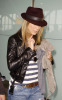 Jennifer Aniston spotted at Heathrow Airport on November 30th 2009 wearing a brown leather hat and torn stylish denim pants 5