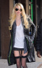Taylor Momsen seen heading to the Gossip Girl set on December 14th 2009 in Downtown New York wearing a mini dark gray skirt 3
