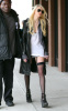 Taylor Momsen seen heading to the Gossip Girl set on December 14th 2009 in Downtown New York wearing a mini dark gray skirt 1