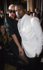 Kanye West and Amber Rose seen together on January 26th 2010 at the Givenchy Haute Couture fashion show in Paris France 5