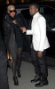 Kanye West and Amber Rose seen together on January 26th 2010 at the Givenchy Haute Couture fashion show in Paris France 1