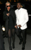 Kanye West and Amber Rose seen together on January 26th 2010 at the Givenchy Haute Couture fashion show in Paris France 2