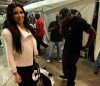 Kim Kardashian seen with her boyfriend Reggie Bush on January 24th 2010 at the NFC Championship Game at the Louisana Superdome in New Orleans 3