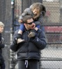 Hugh Jackman spotted with cute Ava after picking her up from school on January 26th 2010 in New York 6