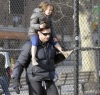 Hugh Jackman spotted with cute Ava after picking her up from school on January 26th 2010 in New York 4