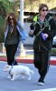 Billy Ray Cyrus and his dayghter Miley Cyrus spotted together on January 27th 2010 walking their dogs in Toluca Lake 2