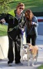Billy Ray Cyrus and his dayghter Miley Cyrus spotted together on January 27th 2010 walking their dogs in Toluca Lake 1