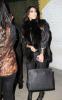 Kim Kardashian seen arriving at the Dan Tanas restaurant on January 27th 2010 wearing a fur black vest 3