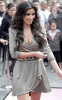 Kim Kardashian arrives at ShoeDazzle on January 29th 2010 at the Westfield Century City Shopping Mall wearing a cute silver dress 3