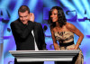 Sam Worthington and Zoe Saldana present the Feature Film Nomination Plaque for Avatar onstage during the 62nd Annual Directors Guild Of America Awards 1