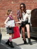 Miley Cyrus and her sister Noah Cyrus seen together on January 30th 2010 as they arrive at a studio in Burbank 3