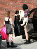 Miley Cyrus and her sister Noah Cyrus seen together on January 30th 2010 as they arrive at a studio in Burbank 7