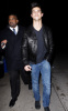Taylor Lautner spotted leaving a Grammy Awards post party hosted by William Morrison in Beverly Hills on January 31st 2010 surrounded by personal bodyguards 2