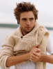 Robert Pattinson photo shoot of December 2009 issue of Vanity Fair Magazine in a beige woolen jacket 2