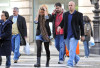 Bar Refaeli spotted on February 5th 2010 at Jimmy Choo surrounded by her bodyguard 1
