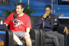 Adam Sandler and Chris Rock together at the Dan Patrick Show mobile studio on February 5th 2010 in Miami South Beach 3