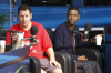 Adam Sandler and Chris Rock together at the Dan Patrick Show mobile studio on February 5th 2010 in Miami South Beach 4