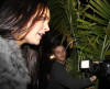Lindsay Lohan seen walking towards Madeo wearing a stylish gray fur coat on February 4th 2010 in Hollywood 7