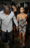 Kim Kardashian and Reggie Bush together for a family dinner on February 5th 2010 at Prime 112 in Miami 1