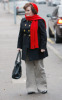 Susan Boyle seen walking around wearing a red woolen scarf and hat on February 3rd 2010 in London England 1