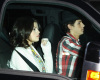 Nick Jonas and Selena Gomez arriving at Jim Henson Studios to record We Are the World on February 1st 2010 in Hollywood 2
