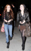 Miley Cyrus seen with Demi Lovato on February 2nd 2010 in Studio City 3