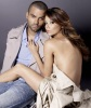 Eva Longoria and her husband Tony Parker photo shoot for the London Fog promotional campaign of February 2010 colored image 2