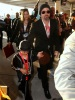 Brad Pitt and his son Maddox spotted on February 7th 2010 arriving to the Super Bowl XLIV at the Sun Life Stadium in Miami Gardens Florida 2