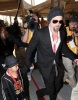 Brad Pitt and his son Maddox spotted on February 7th 2010 arriving to the Super Bowl XLIV at the Sun Life Stadium in Miami Gardens Florida 1