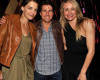 Katie Holmes with Tom Cruise and Cameron Diaz at the Creative Artists Agency Super Bowl on February 6th 2010 at the W Hotel in South Beach