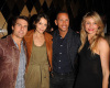 Katie Holmes with Tom Cruise, Cameron Diaz, and Alex Rodriguez at the Creative Artists Agency Super Bowl on February 6th 2010 at the W Hotel in South Beach