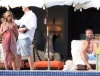 Gerard Butler seen with Jennifer Aniston beside the pool during a vacation on February 6th 2010 in Los Cabos Mexico 2