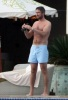 Gerard Butler spotted beside the pool during a vacation on February 6th 2010 in Los Cabos Mexico 1