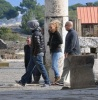 Leonardo DiCaprio and Bar Refaeli seen together on February 7th 2010 while visiting the historical ruins of Pompeii 4