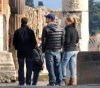 Leonardo DiCaprio and Bar Refaeli seen together on February 7th 2010 while visiting the historical ruins of Pompeii 2