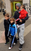 David Beckham spotted with his sons Brooklyn Romeo and Cruz on February 8th 2010 as they walked the streets of Milan Italy 3