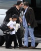 Brad Pitt and his son Maddox spotted on February 8th 2010 as they took a private jet in Miami Florida 1