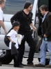 Brad Pitt and his son Maddox spotted on February 8th 2010 as they took a private jet in Miami Florida 2