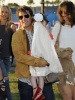 Cameon Diaz seen walking beside Tom Cruise and his wife Katie Holmes and daughter Suri at the Super Bowl on February 7th 2010 at the Sun Life Stadium in Miami Florida 3